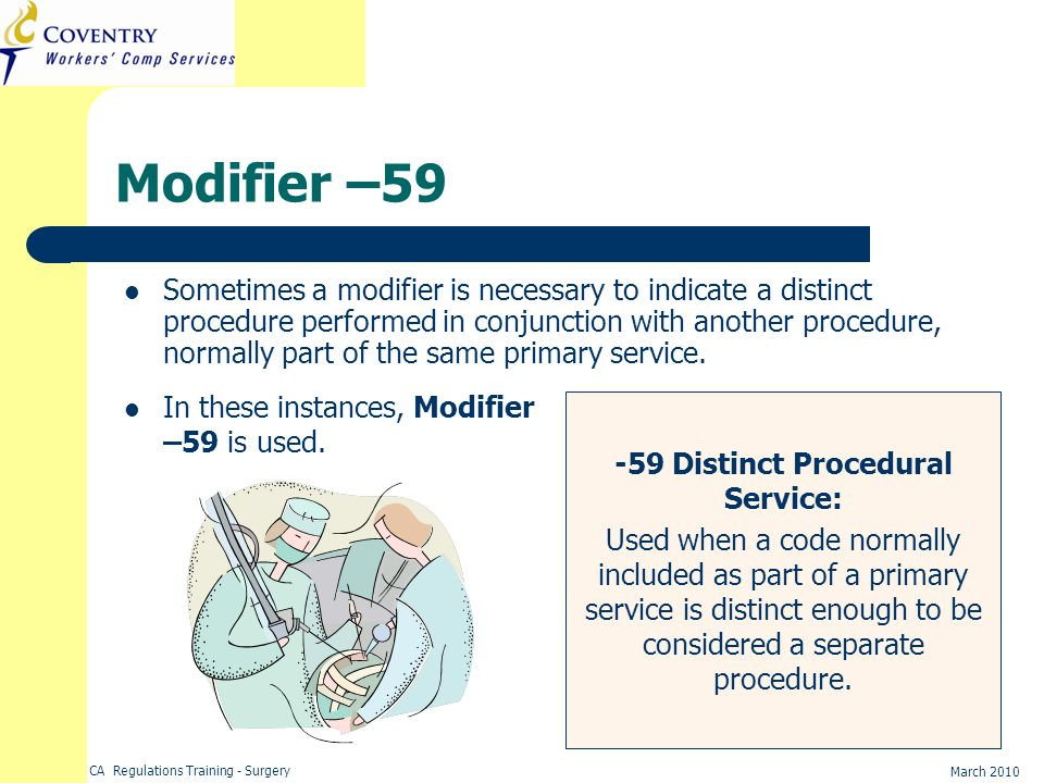 -59 Distinct Procedural Service: