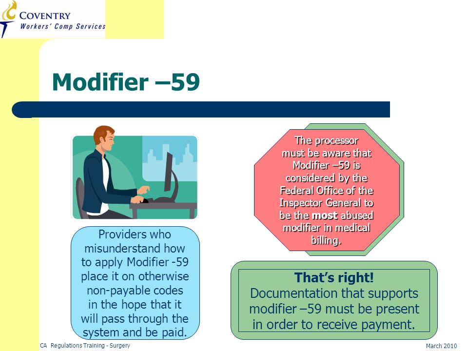 Modifier –59 That's right!