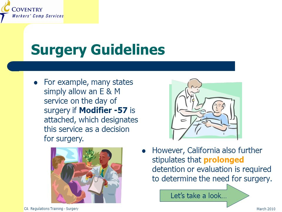 Surgery Guidelines