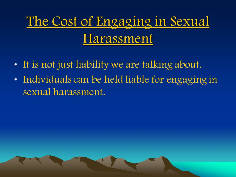 The Cost of Engaging in Sexual Harassment