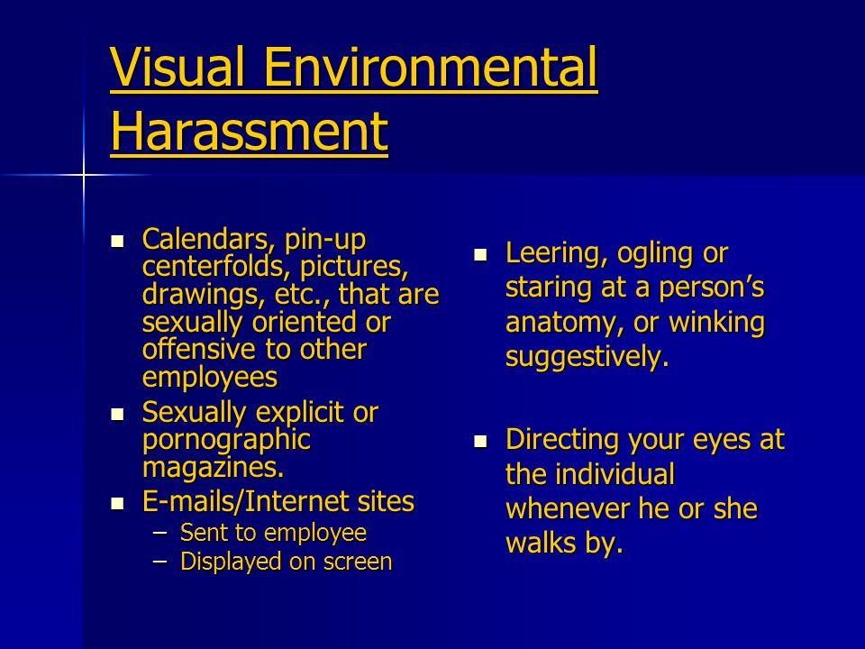 Visual Environmental Harassment