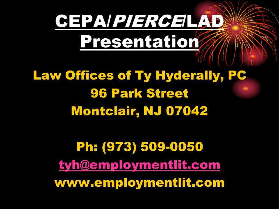 CEPA/PIERCE/LAD Presentation
