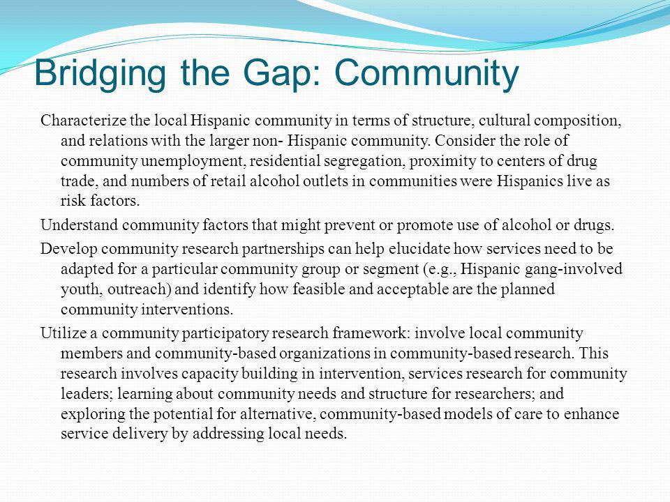 Bridging the Gap: Community