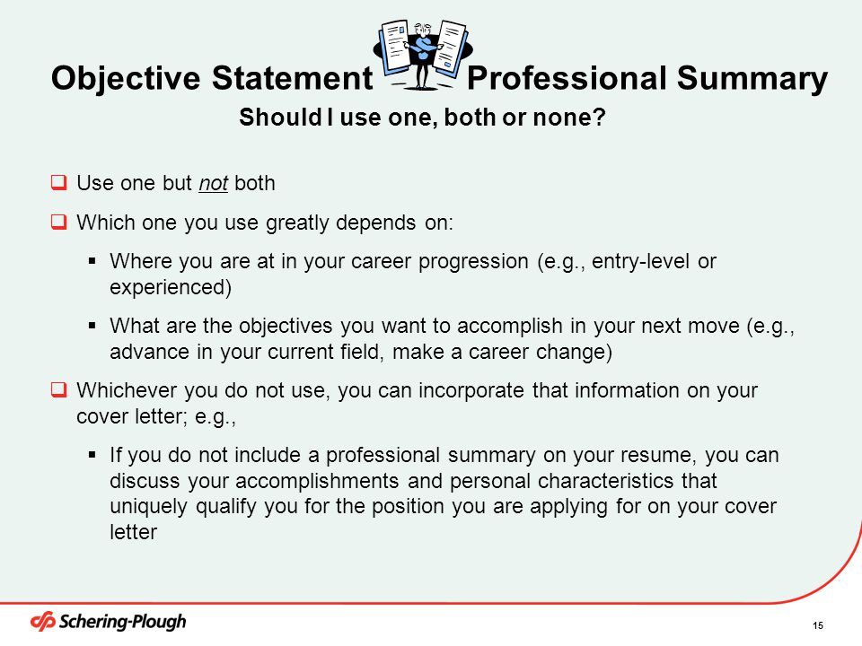 Objective Statement Professional Summary