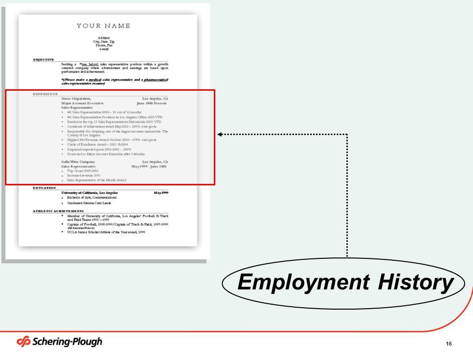 4/6/2017 Employment History