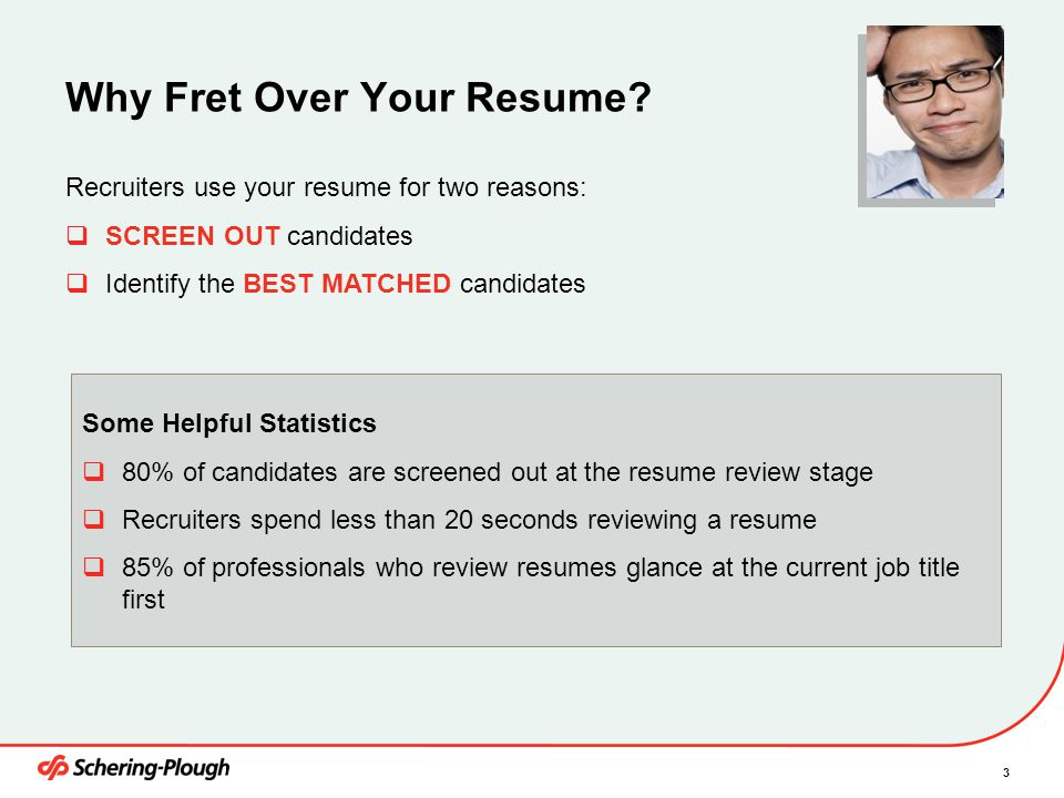 Why Fret Over Your Resume