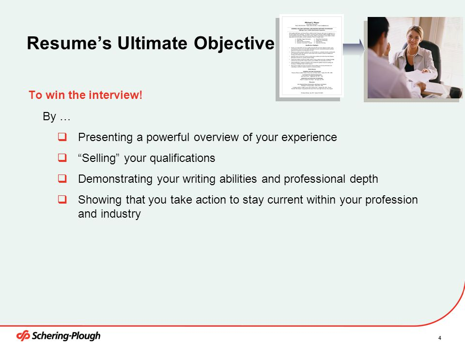 Resume's Ultimate Objective