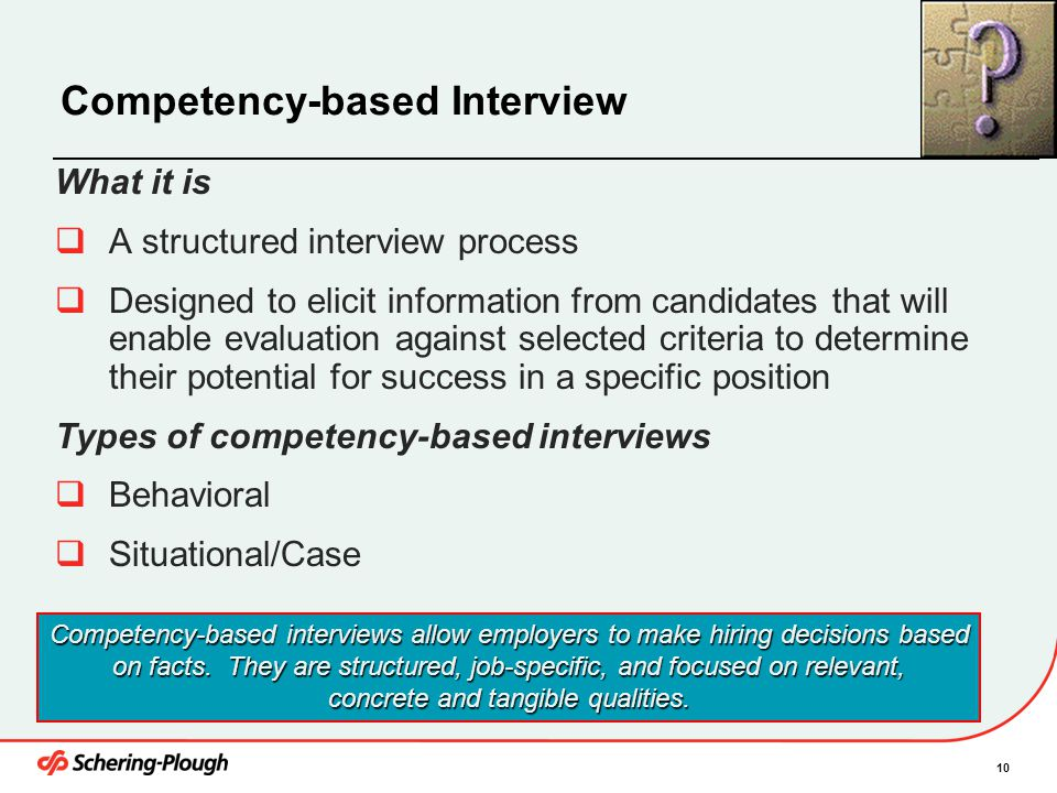Competency-based Interview