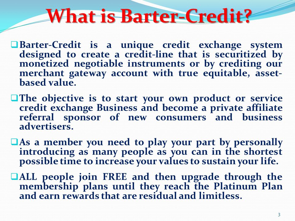What is Barter-Credit