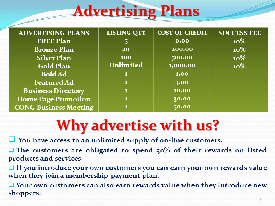 Advertising Plans Why advertise with us