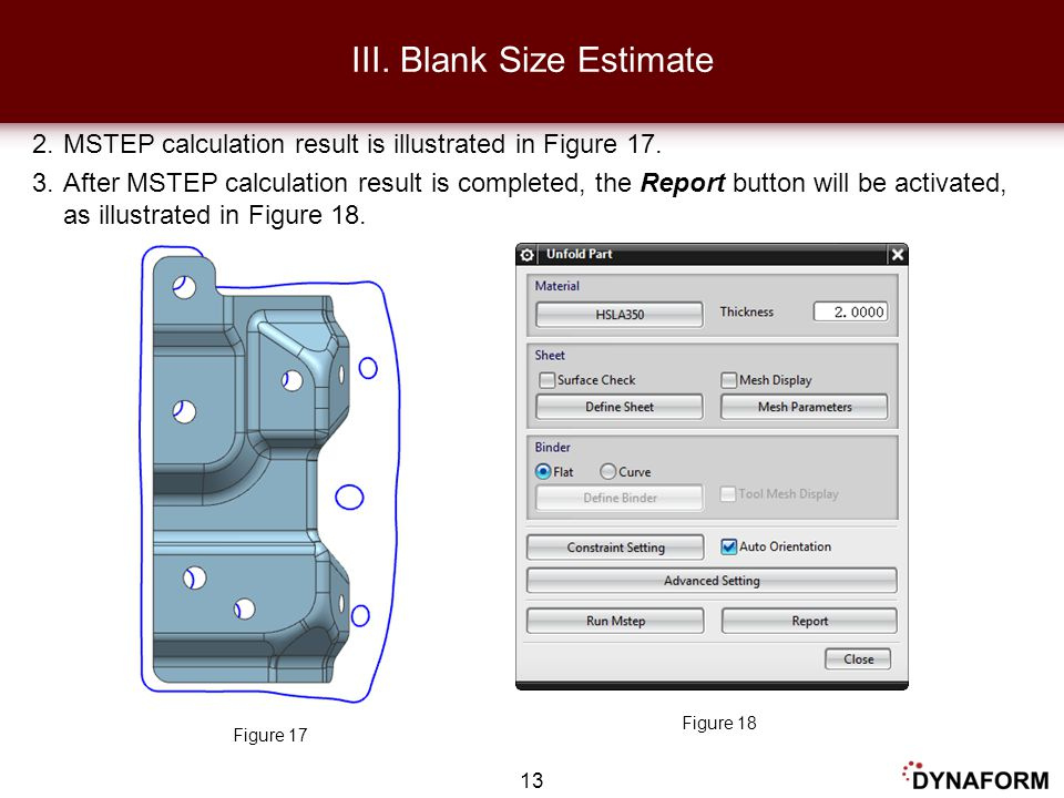 III. Blank Size Estimate