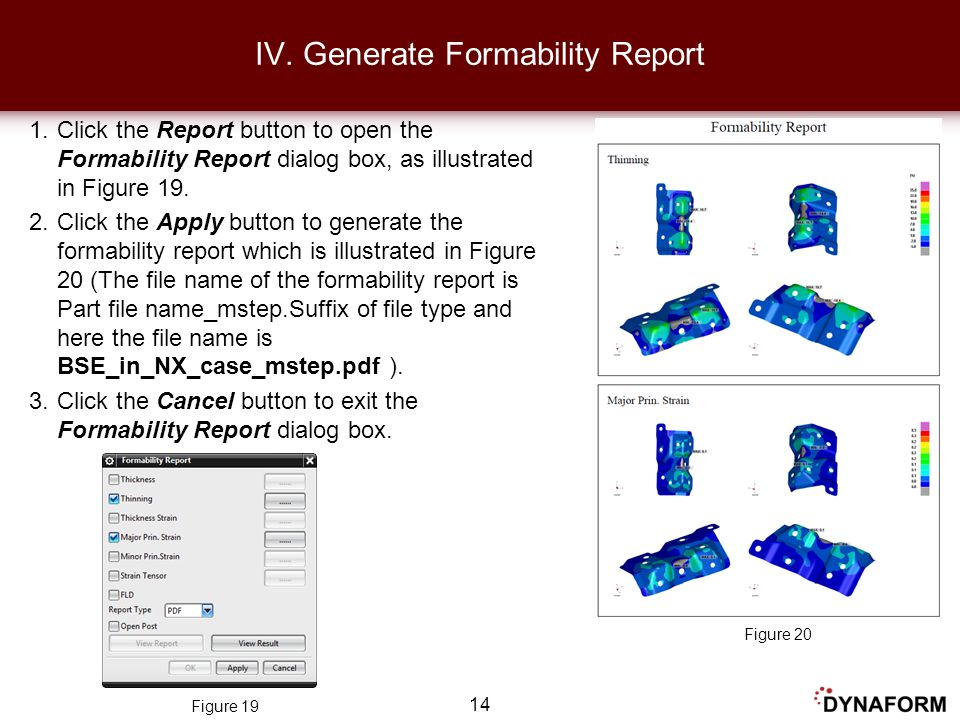 IV. Generate Formability Report