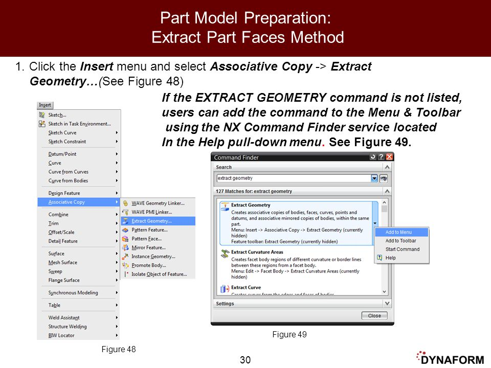 Part Model Preparation: Extract Part Faces Method