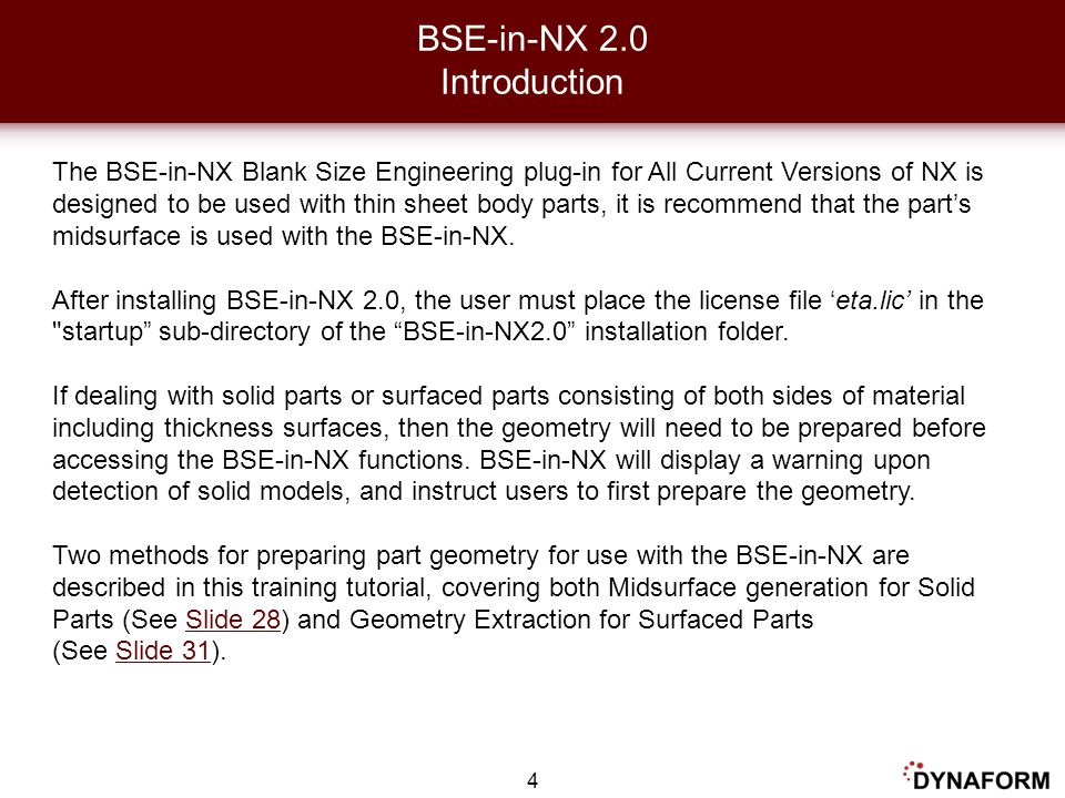 BSE-in-NX 2.0 Introduction