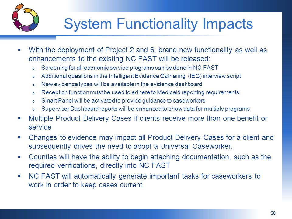 System Functionality Impacts