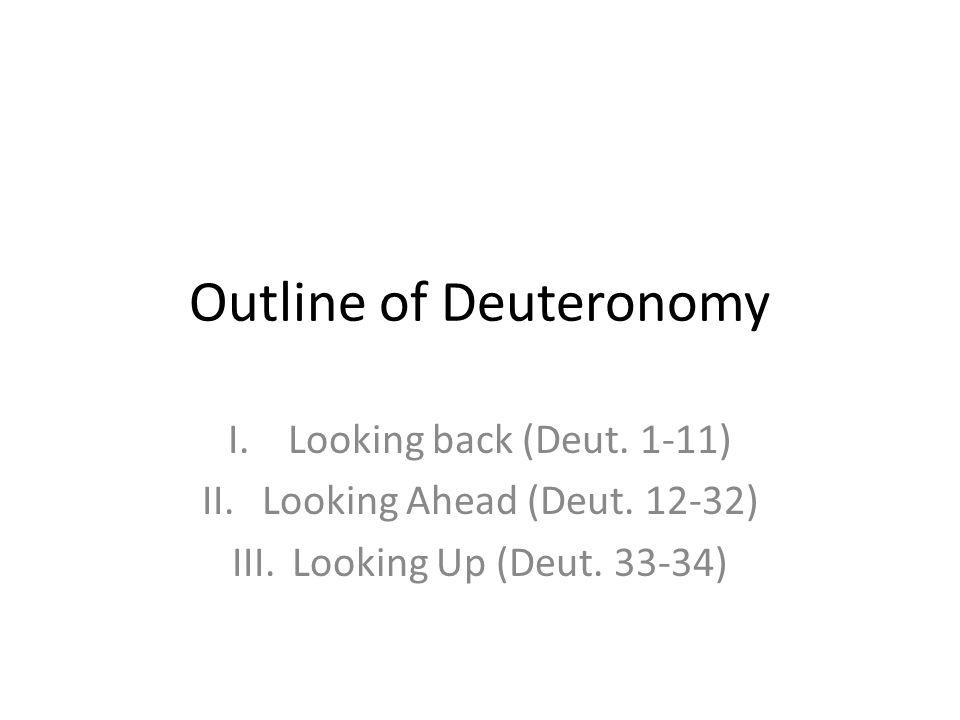 Outline of Deuteronomy