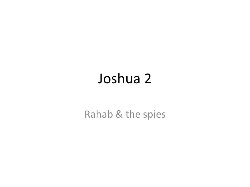 Joshua 2 Rahab & the spies 104