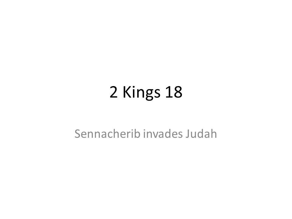 Sennacherib invades Judah
