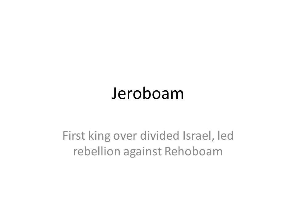 First king over divided Israel, led rebellion against Rehoboam