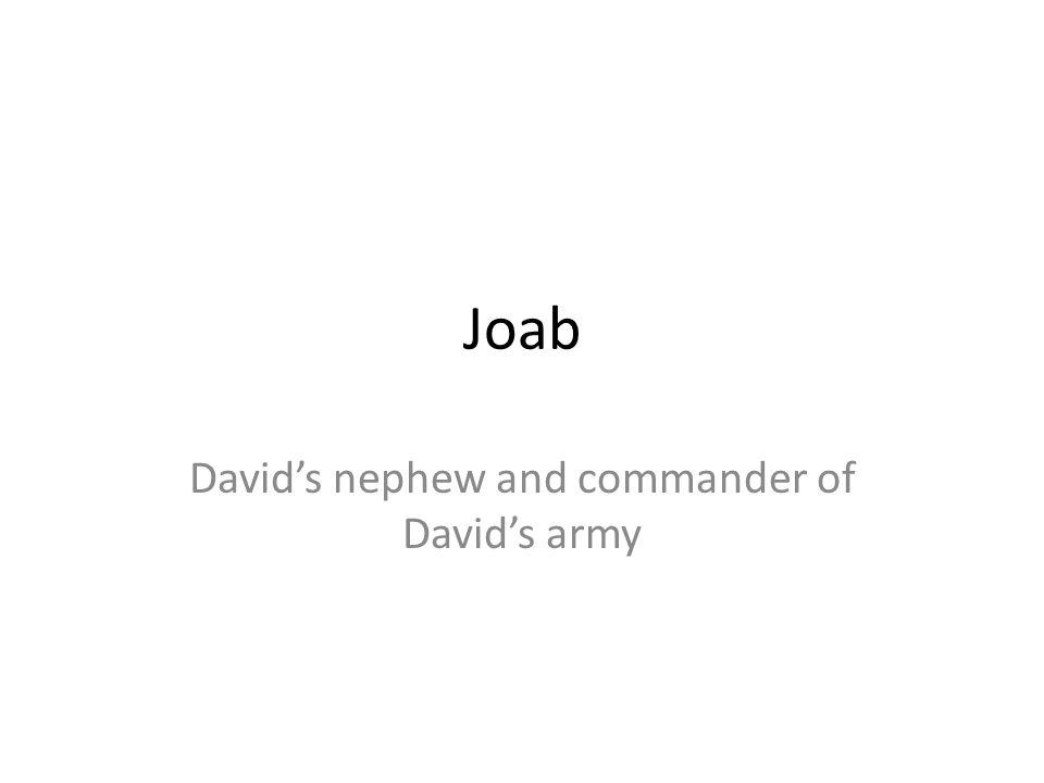 David's nephew and commander of David's army