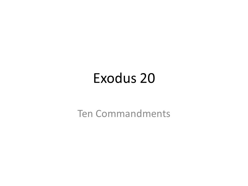 Exodus 20 Ten Commandments 287