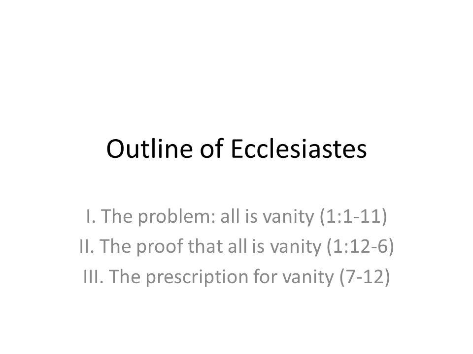 Outline of Ecclesiastes