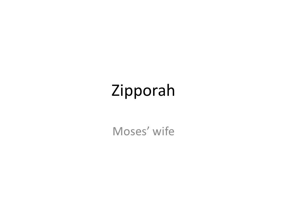 Zipporah Moses' wife
