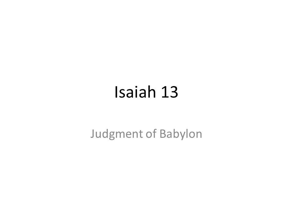 Isaiah 13 Judgment of Babylon 366