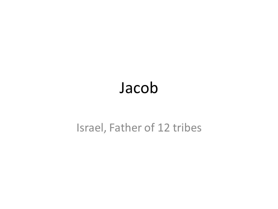 Israel, Father of 12 tribes