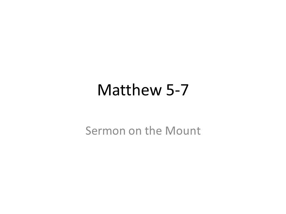 Matthew 5-7 Sermon on the Mount 435