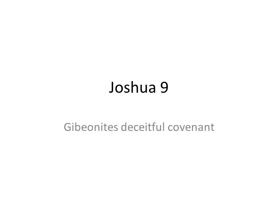Gibeonites deceitful covenant