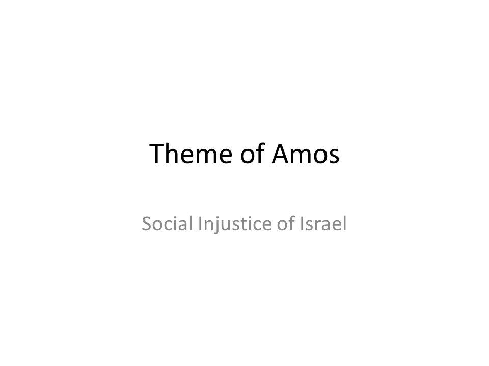 Social Injustice of Israel