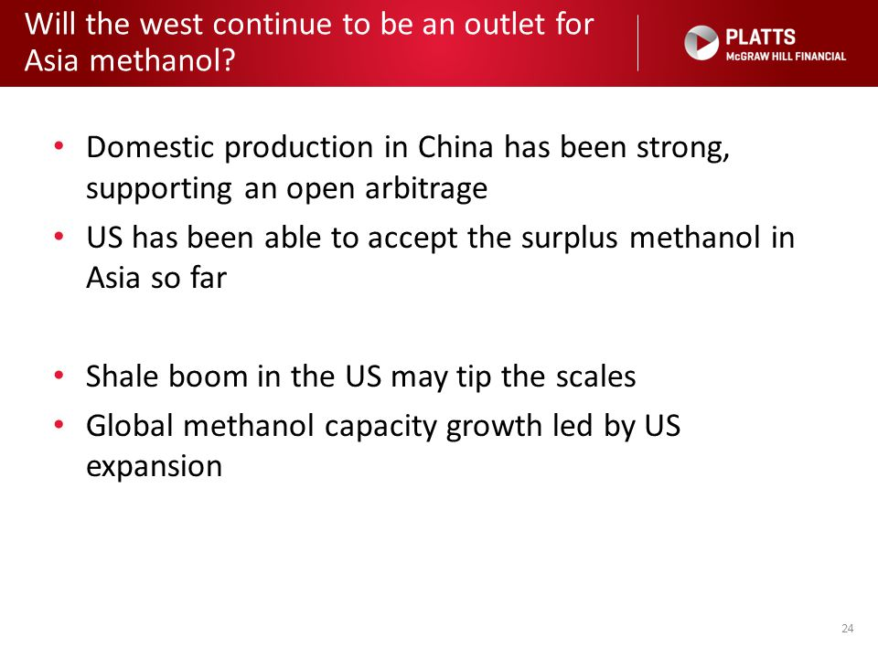 Will the west continue to be an outlet for Asia methanol