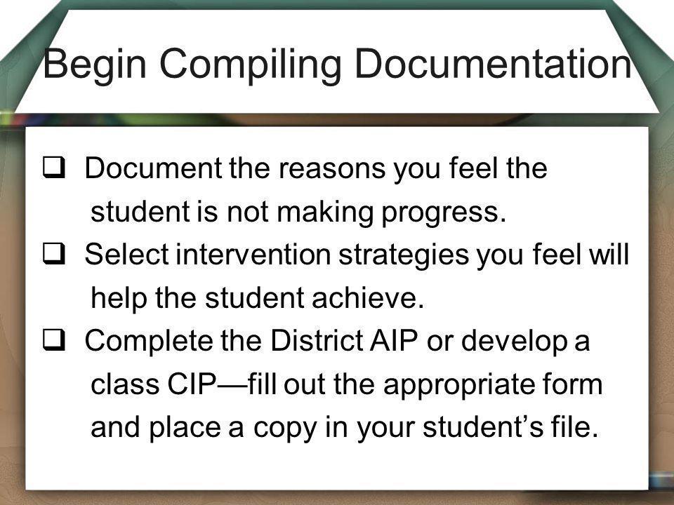 Begin Compiling Documentation