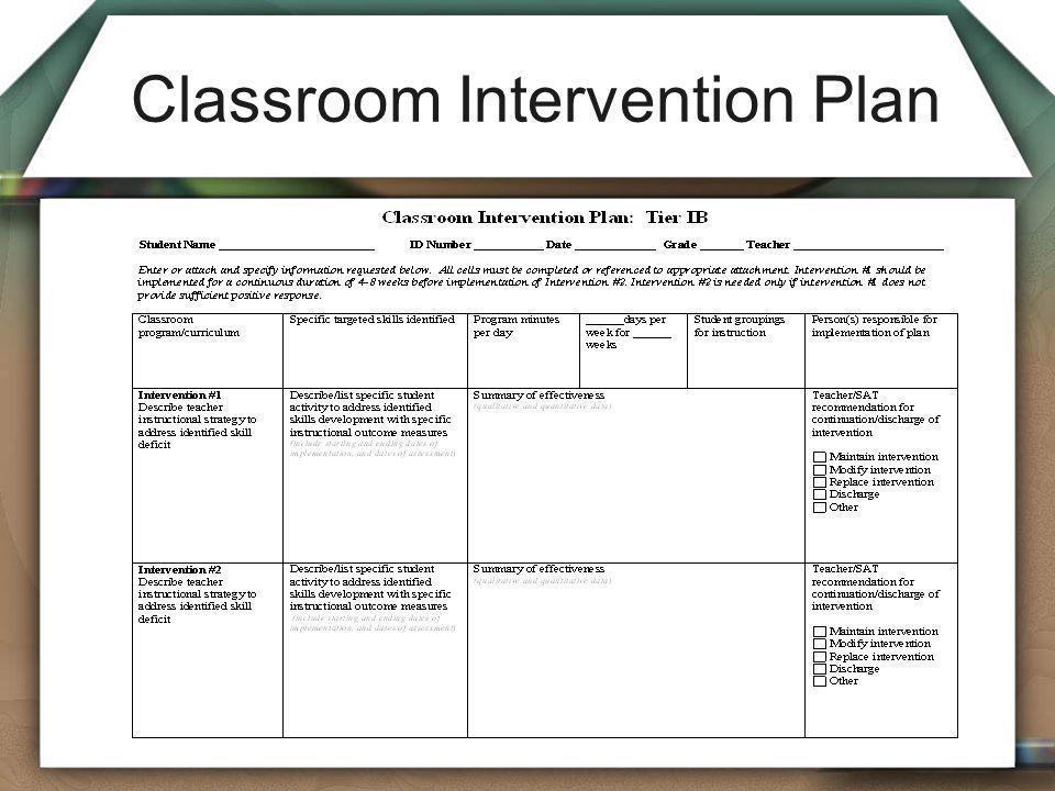 Classroom Intervention Plan