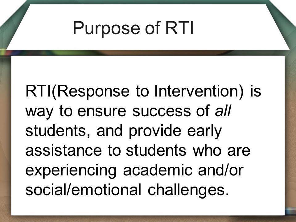 Purpose of RTI