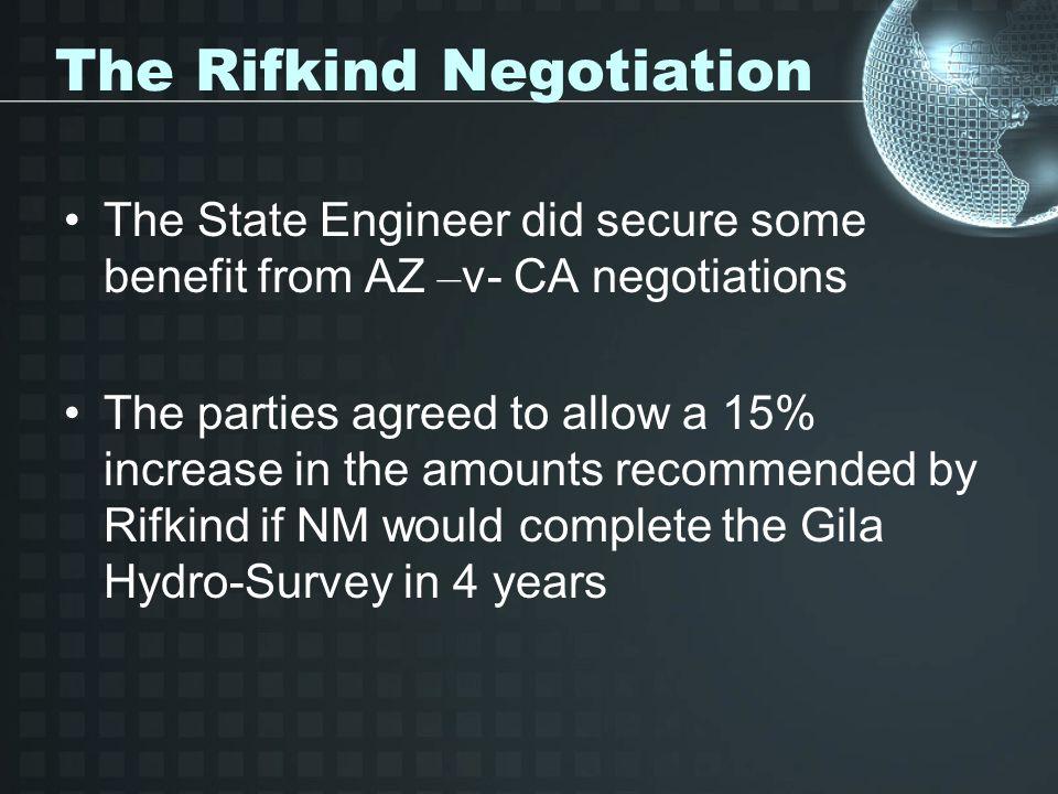 The Rifkind Negotiation