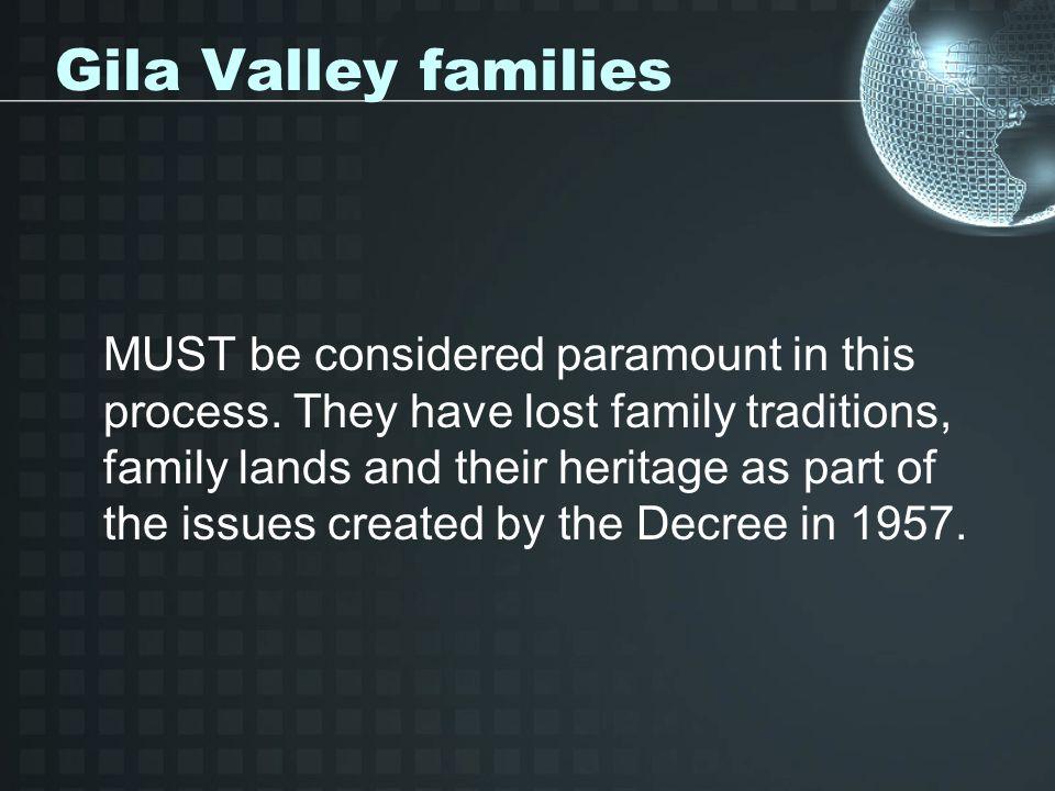 Gila Valley families