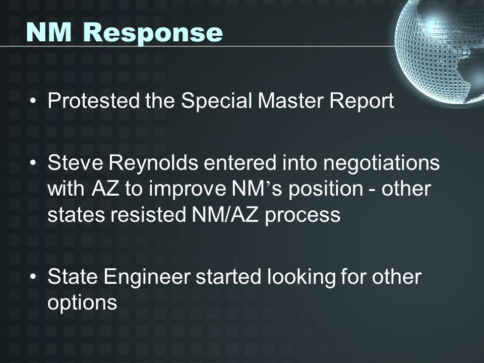 NM Response Protested the Special Master Report