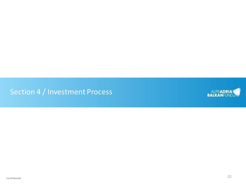 Section 4 / Investment Process