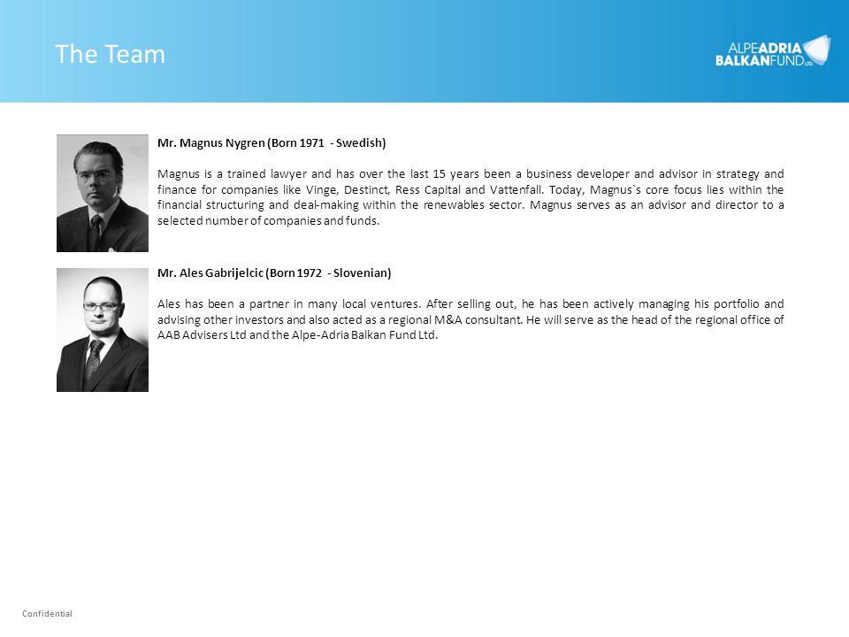 The Team Mr. Magnus Nygren (Born 1971 - Swedish)