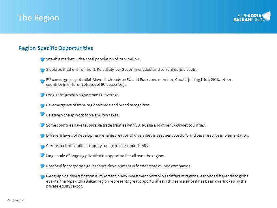 The Region Region Specific Opportunities