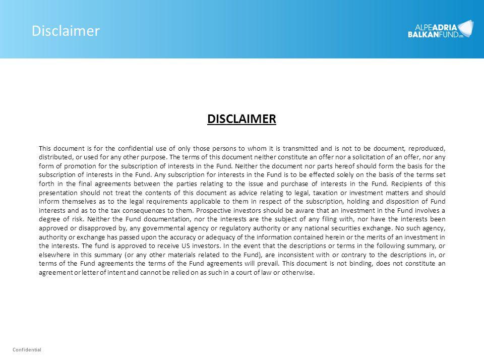 Disclaimer DISCLAIMER