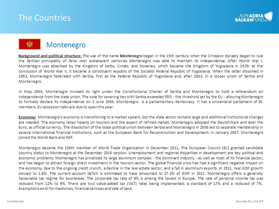 The Countries Montenegro