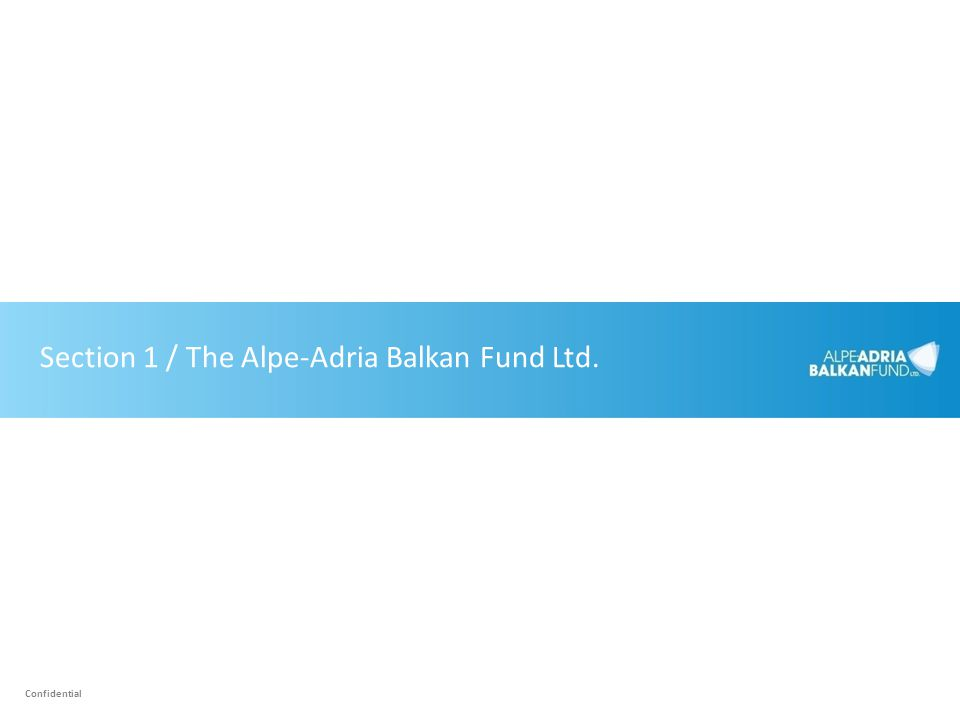 Section 1 / The Alpe-Adria Balkan Fund Ltd.