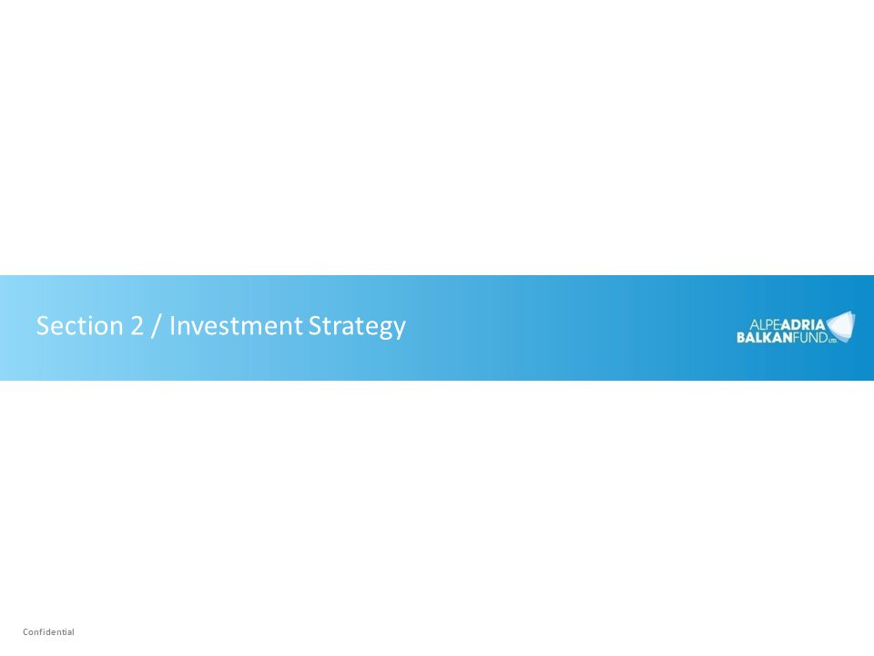 Section 2 / Investment Strategy