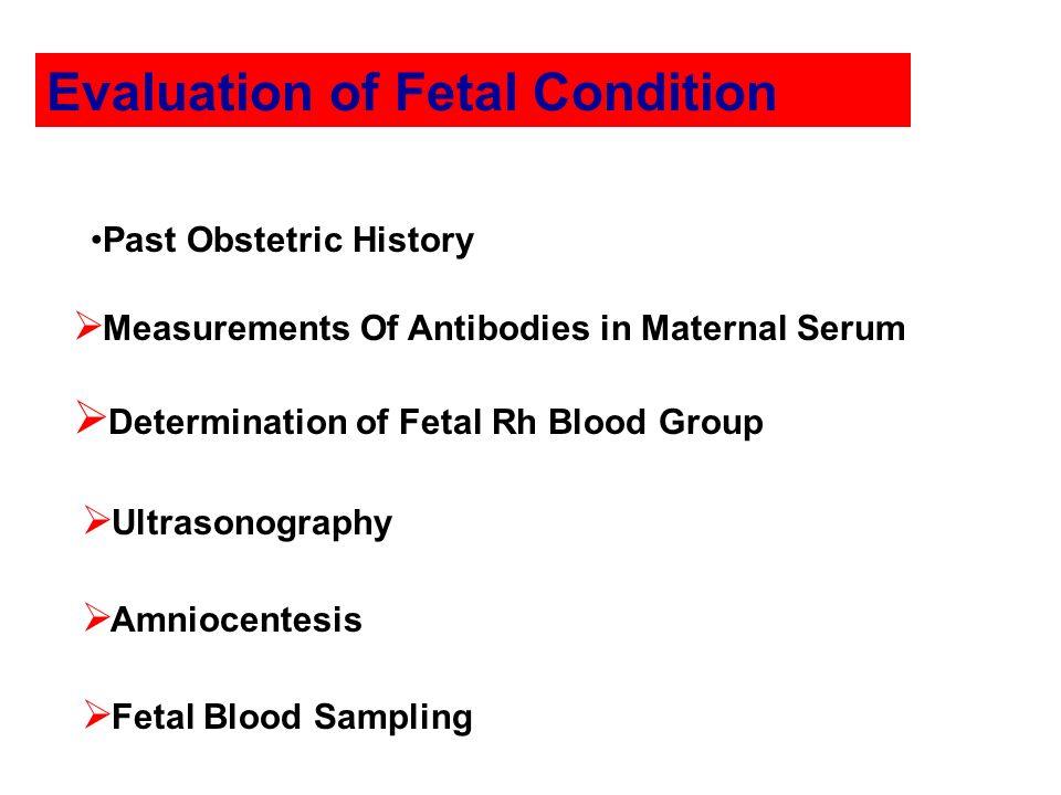 Evaluation of Fetal Condition