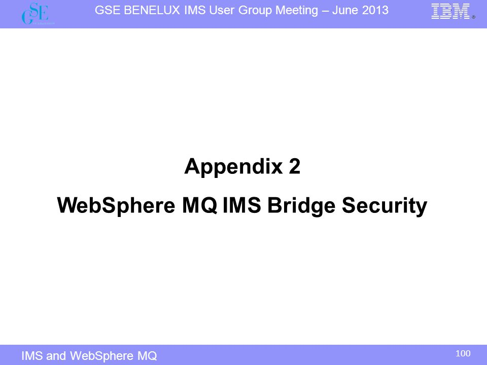 WebSphere MQ IMS Bridge Security