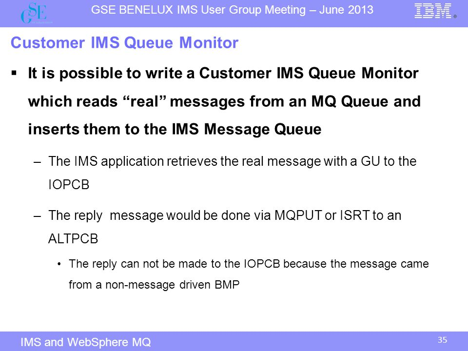 Customer IMS Queue Monitor