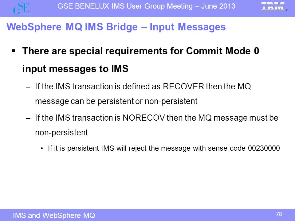 WebSphere MQ IMS Bridge – Input Messages